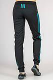 Женские трикотажные штаны Fitness (черные), фото 3