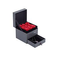 Подарочная коробка с мылом из роз Цветная мыльная композиция