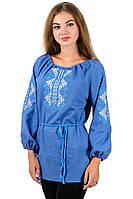 Сорочка вышиванка Украиночка_джинс, фото 1