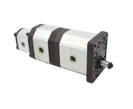 Трехпоточный гидронасос Caproni 55/25/14 см3/об, фото 2