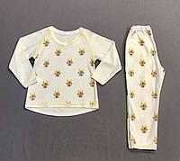 Пижама с зайчиками на девочку р.92 (2 года)