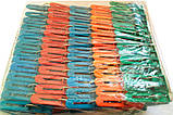 Прищіпки пластикові кольорові, 100 шт/уп., фото 2