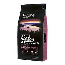Корм для собак PROFINE ADULT SALMON & POTATOES 15кг