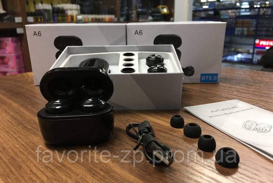 Беспроводные наушники Bluetooth 5.0 гарнитура AIR TWINS A6 в кейсе