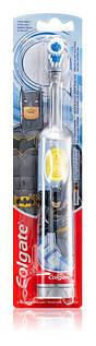 "Електрична дитяча зубна щітка на батарейках ""Colgate"" BatMan незнімна насадка TP0022"