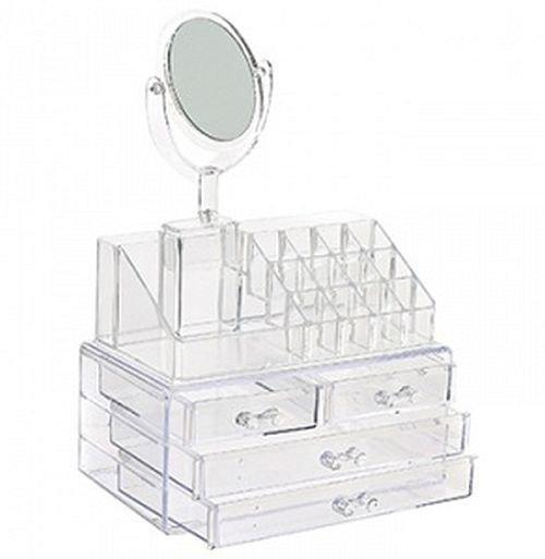 Cosmetic storage box, органайзер для косметики с зеркалом