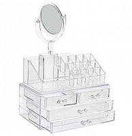 Cosmetic storage box, органайзер для косметики с зеркалом, фото 1