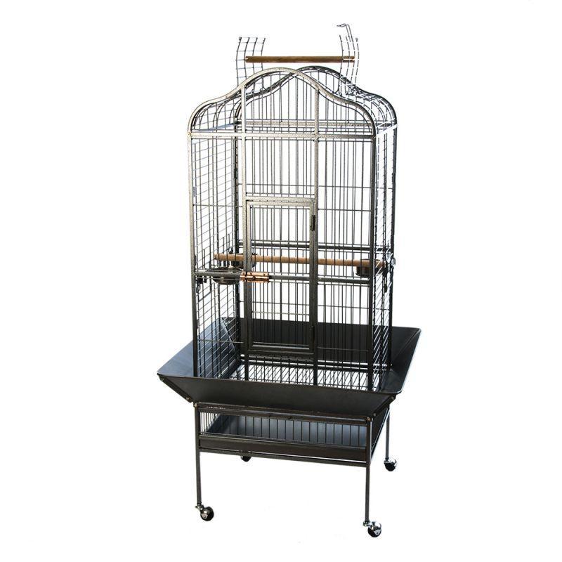 Большая клетка для птиц в винтажном стиле Elegance, вольер для попугаев - 155 х 81 х 78 см