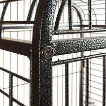Большая клетка для птиц в винтажном стиле Elegance, вольер для попугаев - 155 х 81 х 78 см, фото 2
