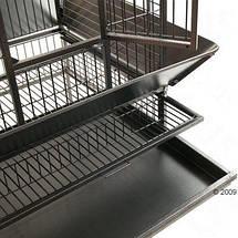 Большая клетка для птиц в винтажном стиле Elegance, вольер для попугаев - 155 х 81 х 78 см, фото 3