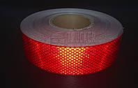 Лента светоотражающая для маркировки кузова Красная 50м Е1 ГЕРМАНИЯ