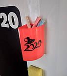 Доска магнитная черная на холодильник Огненный петух, фото 2