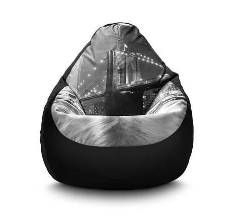 """Кресло груша """"Нью-Йорк: Бруклинский мост"""" Флок, фото 2"""