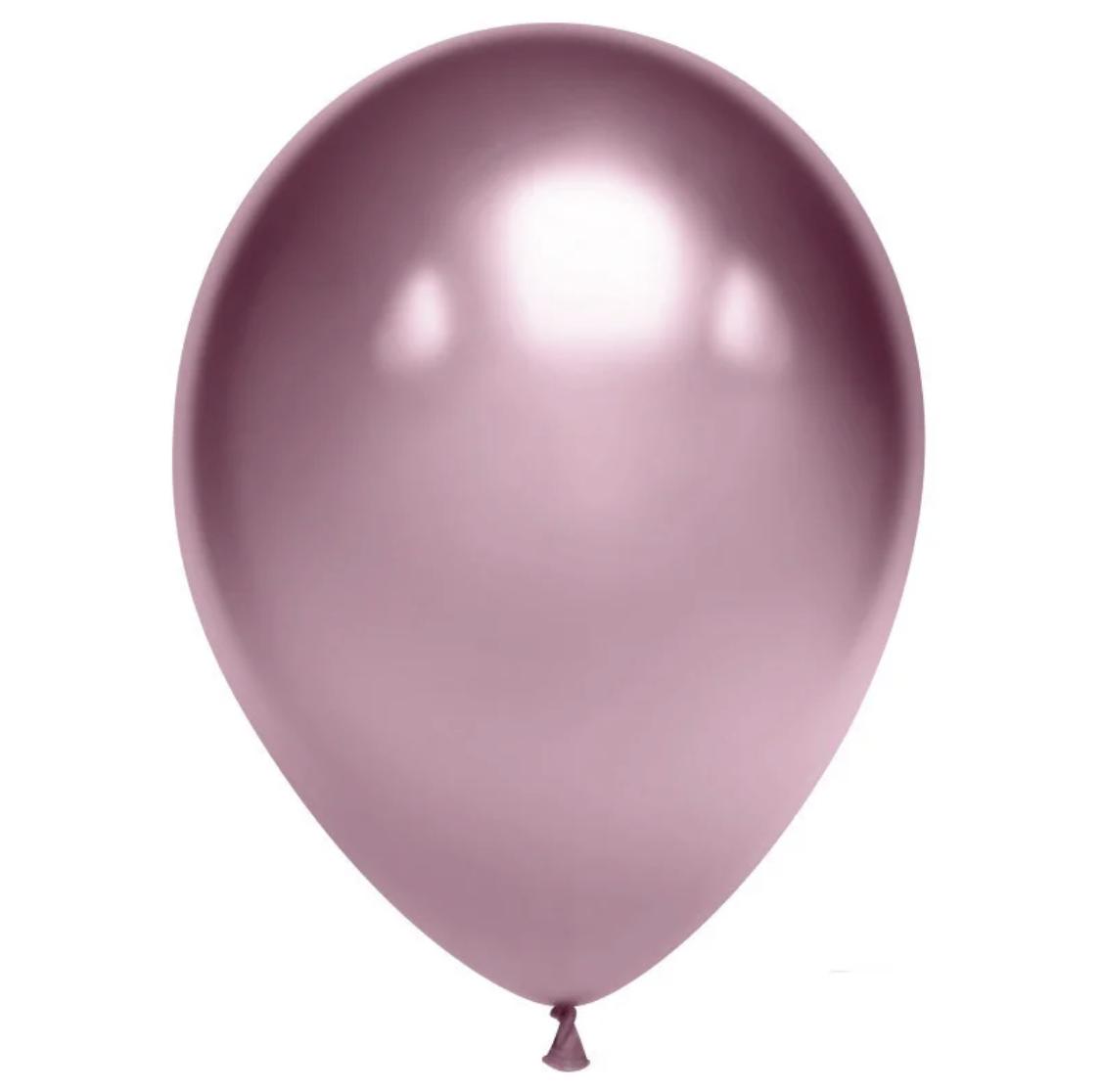 Латексные шары 12' хром Tofo Китай розовое золото, (30 см) 50 шт