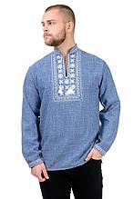 Чоловіча сорочка-вишиванка Орнамент (джинс)