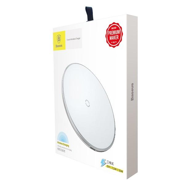 Беспроводное зарядное устройство Baseus Simple Wireless Charger (White)