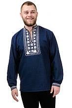 Модна сорочка-вишиванка Орнамент (темно-синій)
