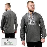 Современная сорочка-вышиванка Орнамент (темно-серый), фото 1