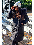 Жіноча парку Freever чорна і хакі, фото 4