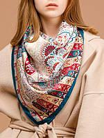 Шикарный платок женский 100% шелк в 3х цветах B03-3237 Eleganzza