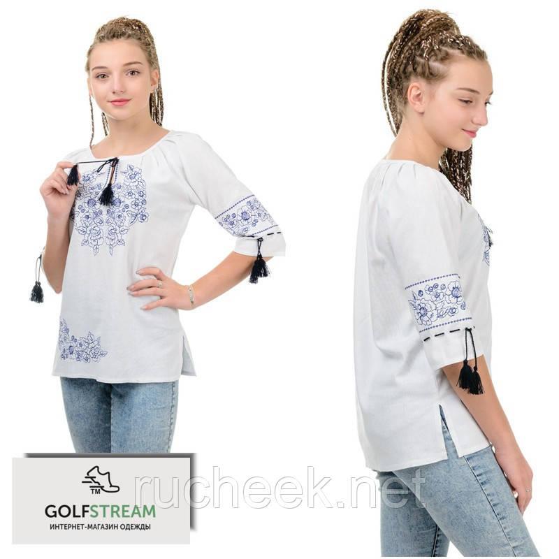 Современная вышиванка женская МОДЕРН (молочная)