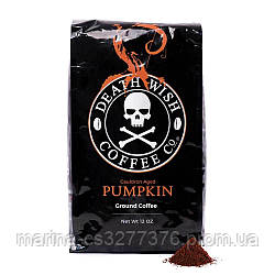 Death Wish Coffee USA Pumpkin coffee со специями, 450 г, темная обжарка, самый крепкий кофе в мире!