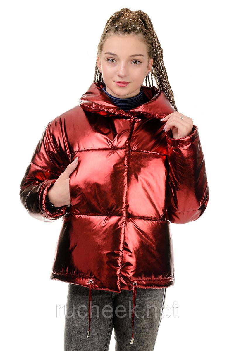 Куртка Марго металлик-марсала