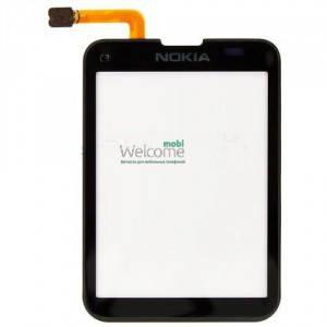 Сенсор NOKIA C3-01, C3-02 black, тач скрин для телефона смартфона, фото 2