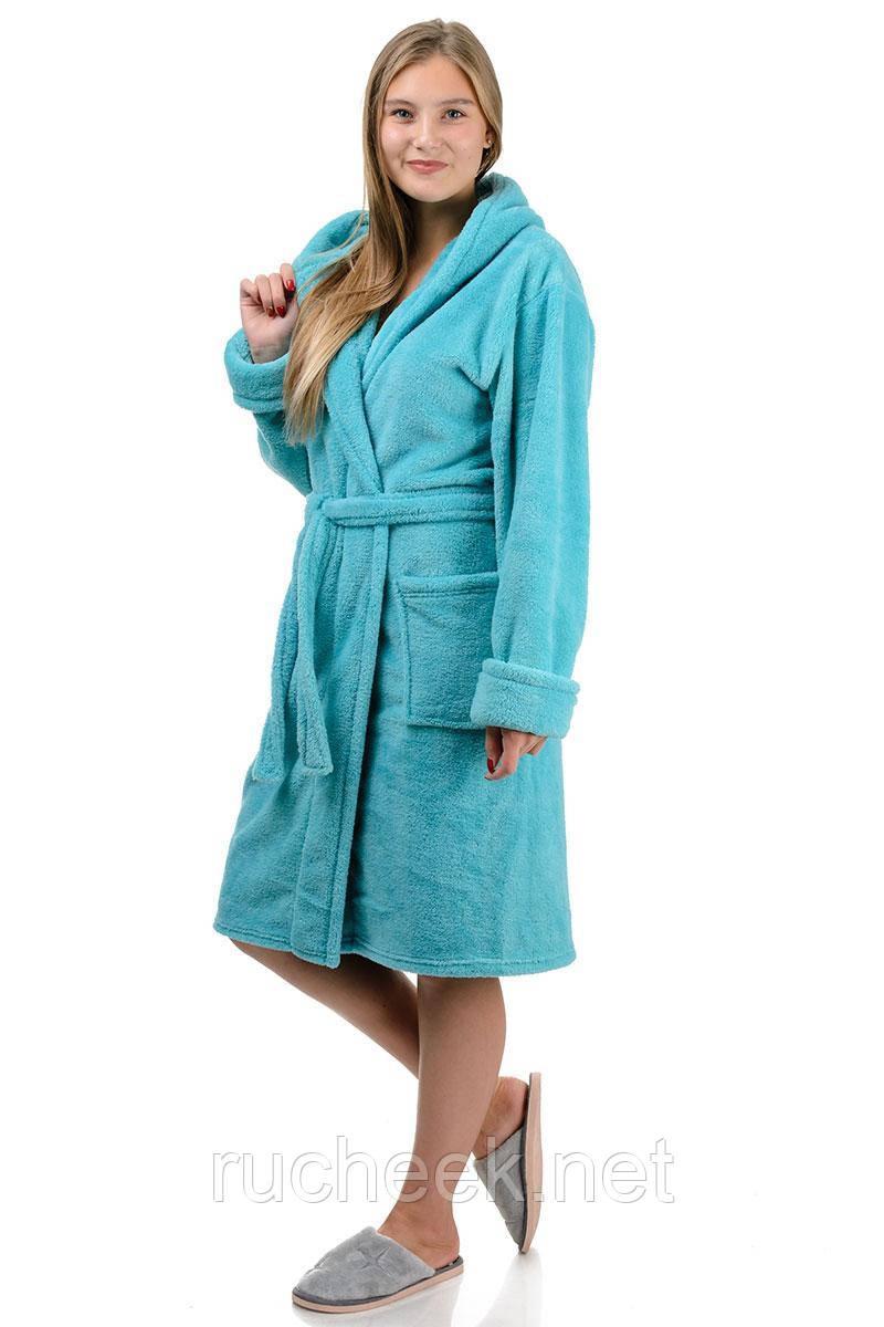 Махровый халат короткий (мята)