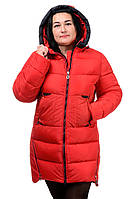 Женская зимняя куртка Модель №89 (красный), фото 1