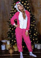 Пижама кигуруми Hello Kitty розовая в горошек kig0030