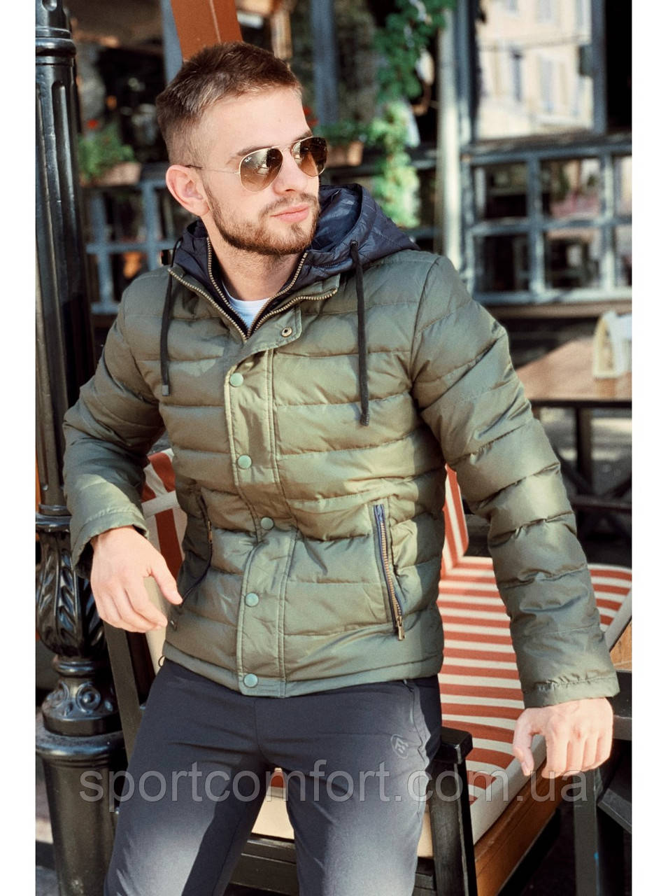 Куртка мужская freever хаки, синяя