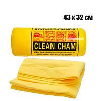 Тряпка салфетка в тубе для автомобиля 43х32см синтетическая Clean Cham
