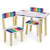 Детский игровой столик и два стульчика