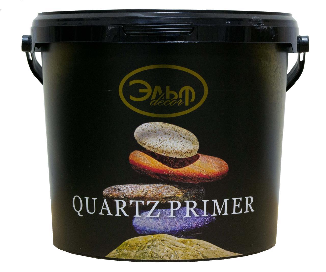 QUARTZ PRIMER (Кварц праймер), Эльф, кварц-грунт перед нанесением декоративных покрытий, 5л