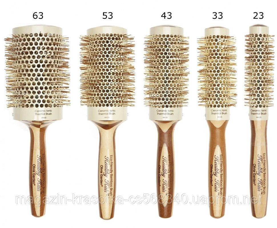 Брашинг бамбуковий Olivia Garden Healthy Hair Thermal 63 мм