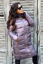 Пальто зимнее женское freever баклажан, пудра,тёмно-синее