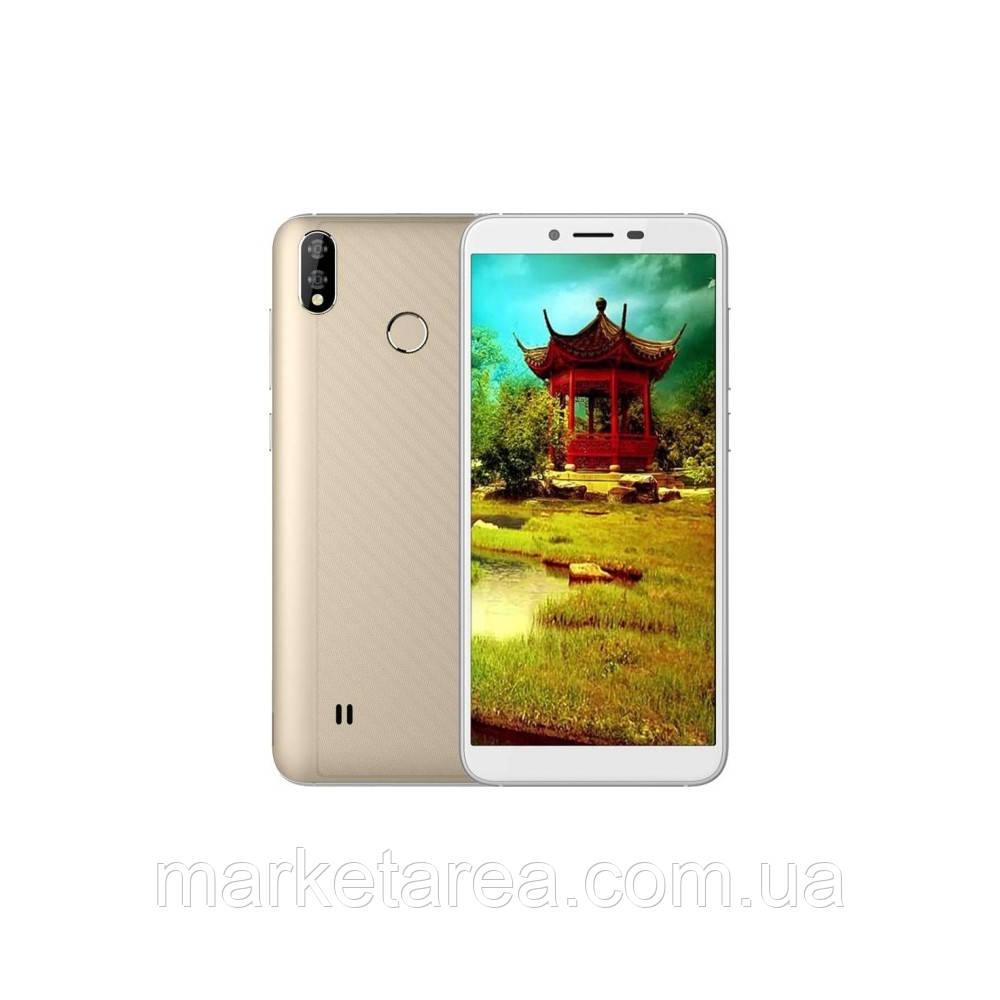 Смартфон золотистый с большим дисплеем и двойной камерой на 2 сим карты Coolpad Mega 5 gold 3/32Gb