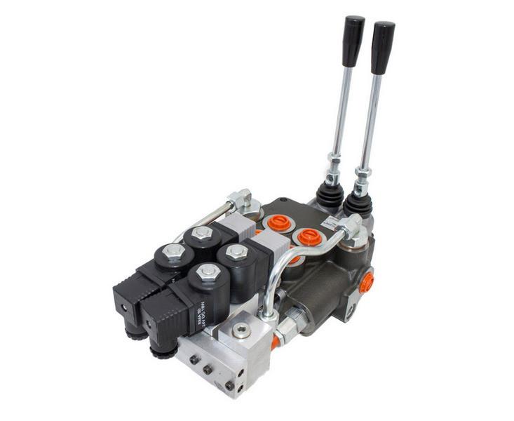 Гидрораспределитель Р80 4х секционный 80 л/мин (С электрогидравлическим управлением)