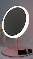 Настольное зеркало c LED подсветкой для макияжа круглое USB Mirror Perfection, фото 1