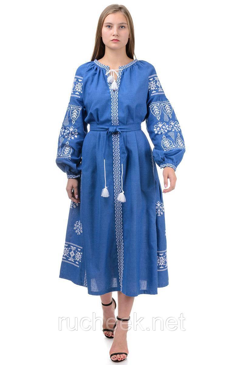 Длинное платье -вышиванка
