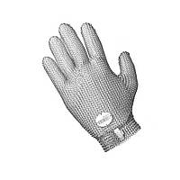 Защитные кольчужные перчатки 5палые NIROFLEX 2000 размер S до запястья от порезов