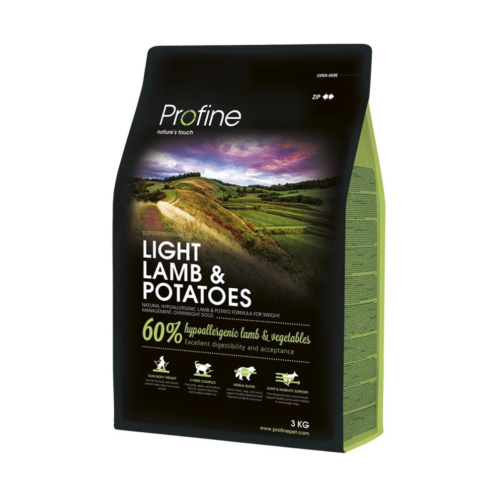 Корм для собак PROFINE LIGHT LAMB & POTATOES 3кг