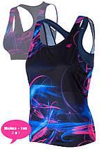 Майка женская 4F Fitness S-L blue (H4L19-TSDF006-2)