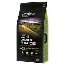 Корм для собак PROFINE LIGHT LAMB & POTATOES 15кг