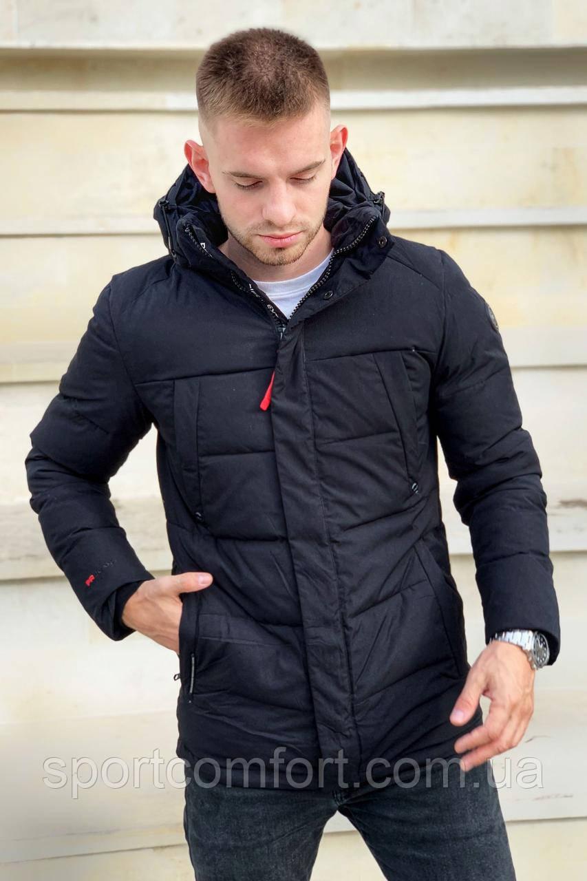 Куртка мужская удлинённая freever черная, тёмно-синяя