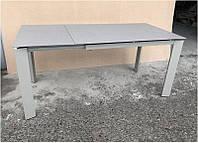 Стол раскладной Marlow DF505-2Tg светло-серый, столешница каменная крошка 1200(+500)х800х770
