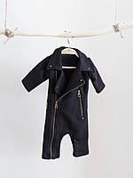 """Детский стильный комбинезон-косуха """"Vortex"""" черный. Размеры от 62 до 110, фото 1"""