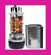 Электрошашлычница Domotec BBQ (Домотек) 6 шампуров вертикальная