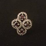 Срібний перстень з гранатами, фото 3